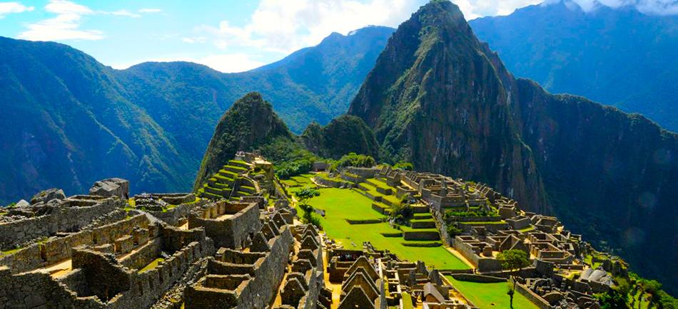 La antigua ciudad de Machu Picchu.