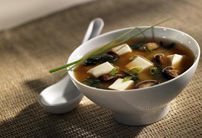 Sopa de miso.
