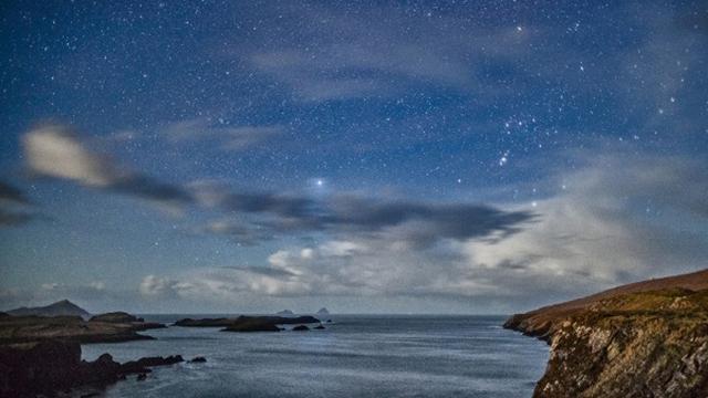cielo oscuro Kerry, Irlanda