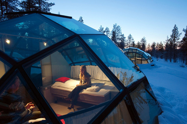 Hotel-iglú Kakslauttanen en Finlandia 2