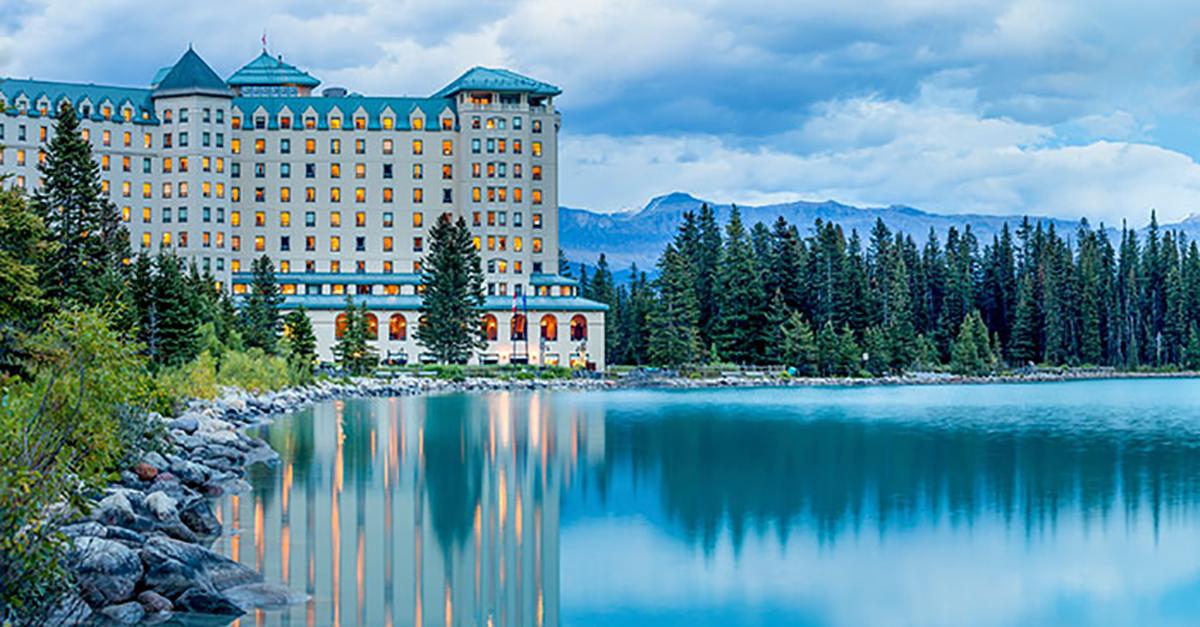 Fairmont Chateau en el lago Louise, Alberta, Canadá