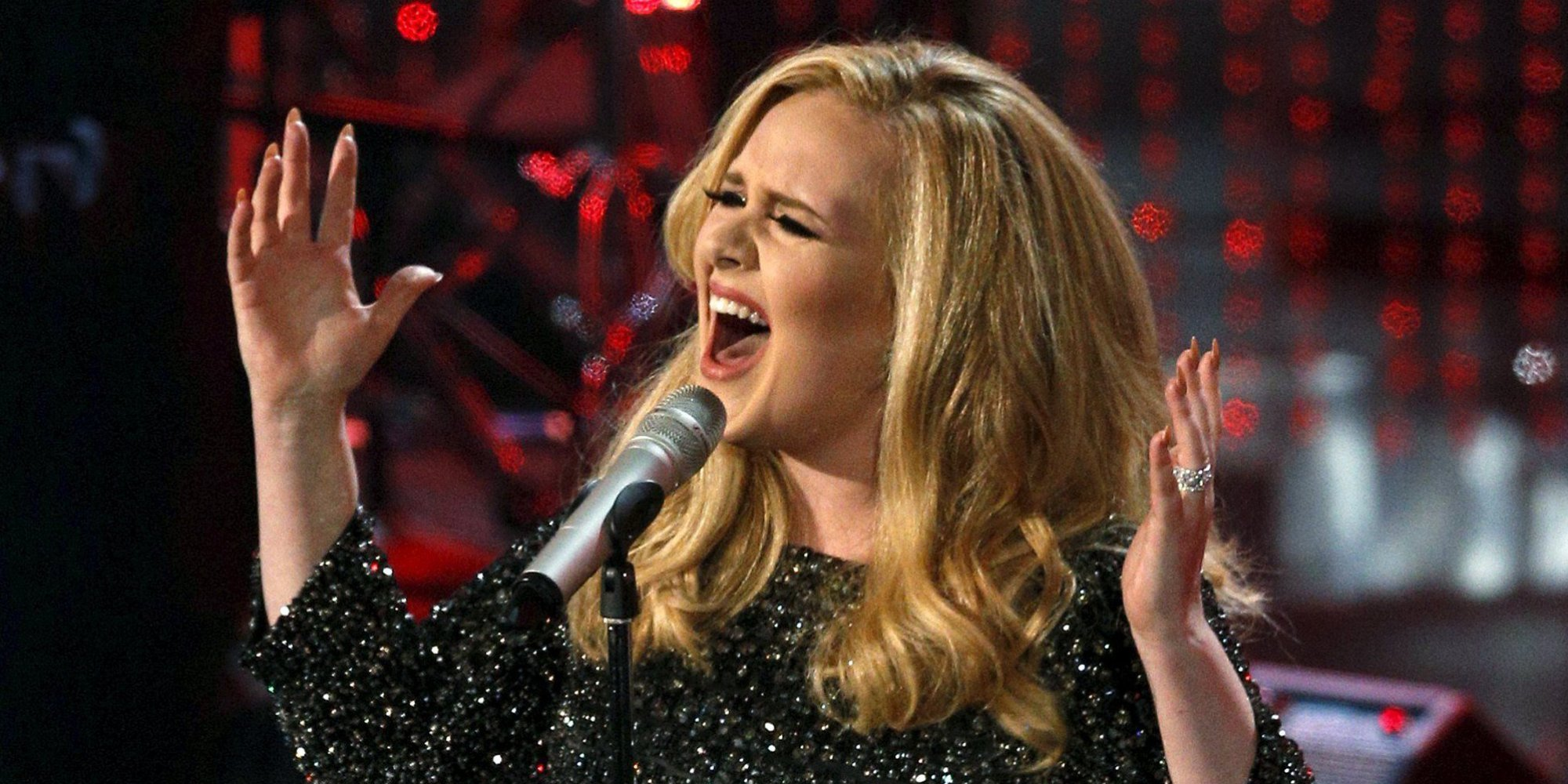 """British singer Adele performs the song """"Skyfall"""" from the film """"Skyfall,"""" at the 85th Academy Awards in Hollywood, California, United States, in this file photo taken February 24, 2013. Adele, whose latest album """"25"""" has smashed sales records in its first week of release, announced on Thursday she would begin a 15-week concert tour of Britain, Ireland and continental Europe in February. The tour will open on Feb 29 at the SSE Arena in Belfast and will end on June 13 at the Sportpaleis in Antwerp, Belgium, a notice sent to subscribers to her website said. Other concerts will be given elsewhere in Britain and in Ireland, Norway, Denmark, Germany, Switzerland, Portugal, Spain, Italy, the Netherlands and France, the notice said. REUTERS/Mario Anzuoni/Files"""